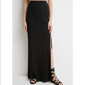 Forever 21 Maxi Skirt with Front Slit